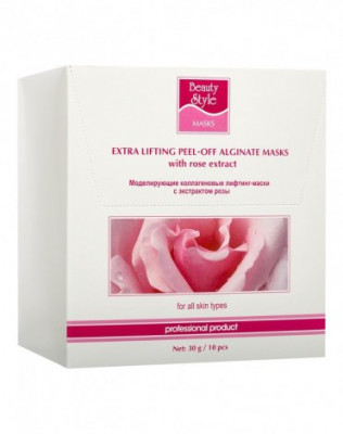 Альгинатная маска для лица коллагеновая с экстрактом розы Beauty Style 30 г: фото