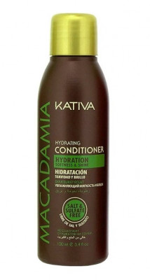 Интенсивно увлажняющий кондиционер для нормальных и поврежденных волос Kativa Macadamia 50мл: фото