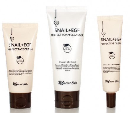 Набор для лица SECRET SKIN SNAIL+EGF PERFECT 3 SET: крем для лица 50мл + пенка для лица 100мл + крем вокруг глаз 30мл: фото