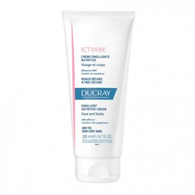 Питательный крем для сухой кожи Ducray Ictyane Crème émolliente nutritive 200 мл: фото