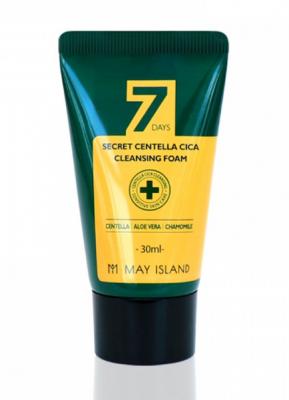 Пенка очищающая для проблемной кожи May island 7 Days Secret Centella Cica Cleansing Foam 30мл: фото