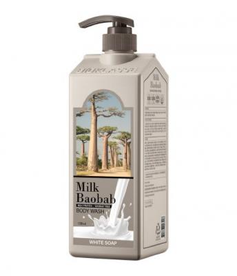 Гель для душа с ароматом белого мыла Milk Baobab Perfume Body Wash White Soap 500мл: фото