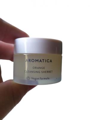 Очищающий щербет для лица с маслом канолы и маслом семян бабассу Aromatica Orange Cleansing Sherbet 12г: фото
