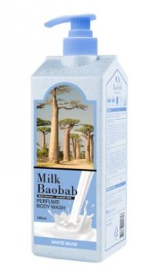Гель для душа с ароматом белого мускуса MILK BAOBAB Body Wash White Musk 500мл: фото
