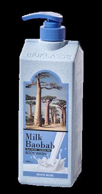 Гель для душа с ароматом белого мускуса Milk Baobab Original Body Wash White Musk 1000мл: фото